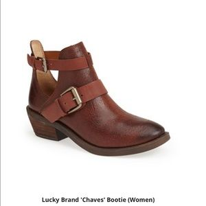 Lucky brand Chavez brown leather booties Sz 6.5